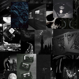 black obsidian blackaesthetic aesthetic obsidianaesthetic collage grid collagegrid art background wallpaper beautiful madewithpicsart