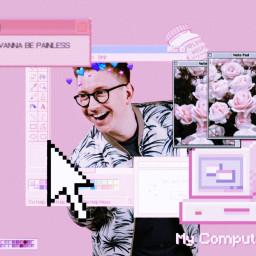 tyleroakley pink aesthetic edit computer mouse tyleroakleyedit freetoedit