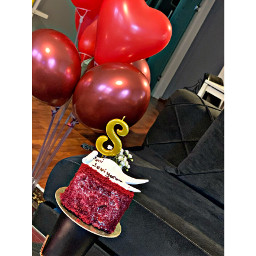 food ballons cake celebration indoors home interior close_up red