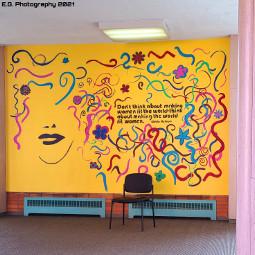 womenshistorymonth mural gloriasteinemquote photography egphotography2021 freetoedit