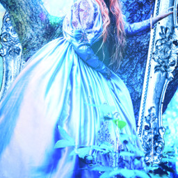 blueaesthetic frame ornateframe blue tree srcornateframe freetoedit