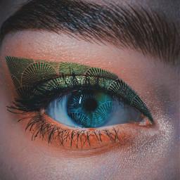 eye mermaid green scales tail ecartdeco freetoedit