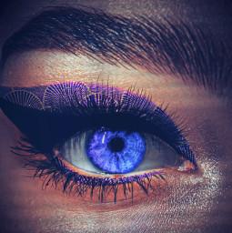 eye blueaesthetic shells shell mermaid liner brow lashes purple freetoedit