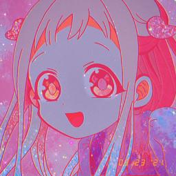 yashironene yashiro neneyashiro nenechan yashiroicon toiletboundhanakokun toiletbound toiletboundhanakokunicon jibakushounenhanakokun fanart redraw pink sparkles film icon anime animeicon stars teal blue galaxy