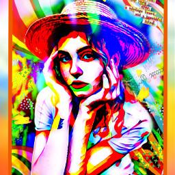 challenge colorful girl woman photo rccolorfulcollageaesthetic freetoedit