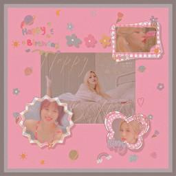 twice mina minatwice twicemina pink minamina momo dahyun sana cheayoung jihyo tyzyu nayeon jeonyeon jyp music happybirthday
