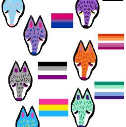 pridepins pins claypins wolf