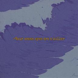 oceaneyes ocean darkocean purple yellowtext freetoedit
