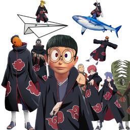 akatsuki itachi konan kisame sasori deidara kakazu hidan zetsu painakatsuki tobiobito nobita sharingan rinnegan freetoedit