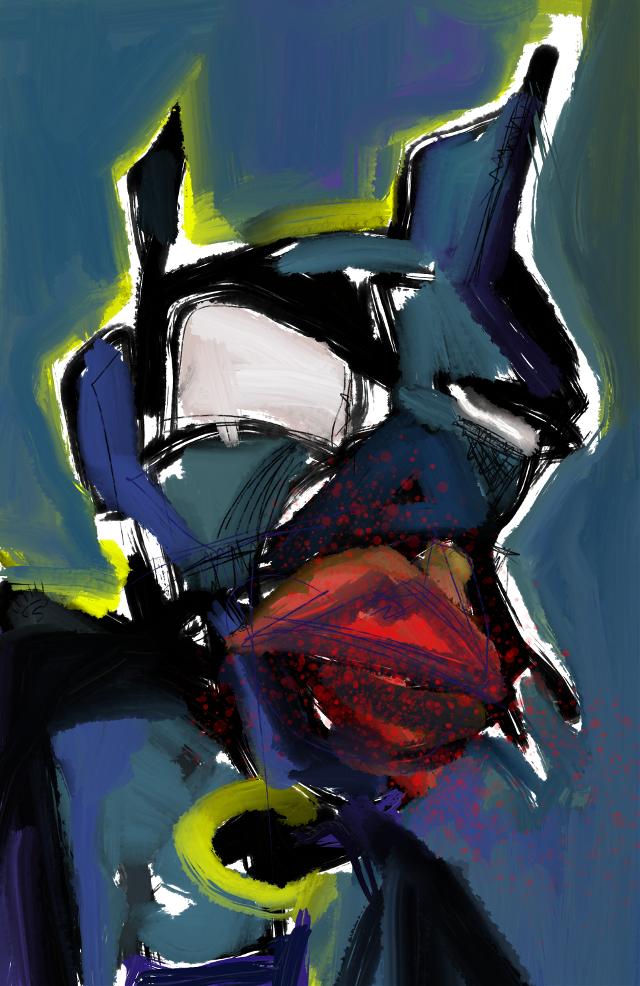 """""""The Bat"""" #sonnythesaint #art #artist #abstract #sonnythesaint #sonnyleel #neoexpressionism #digitalpainting #painting #modernart #contemporaryartist #contemporaryart #grafittiart"""