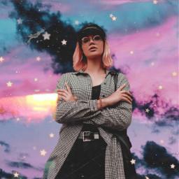 freetoedit sky skyedit background backgroundchange sparkles galaxysky surreal