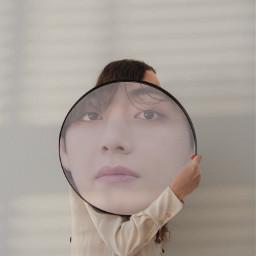 mirror reflection shadow btsv vbts taehyung bts freetoedit