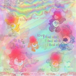 rainbow traumacore trauma pastel text eyestrain pink cute freetoedit