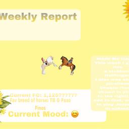 weeklyreport myweek sunflower happy mood freetoedit