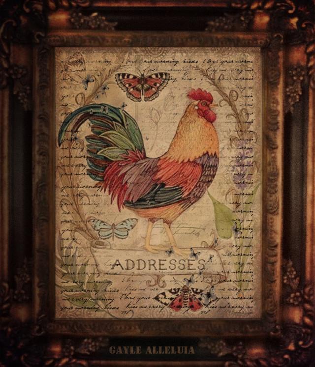 #handwrittenbackground #challenge #rooster #old #farm #farmhousedecor #butterflies #madewithpicsart @galleluia