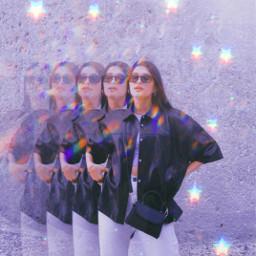 aesthetic girl aestheticgirl glow glowy day stars glitch light spotlight replay remixit freetoedit