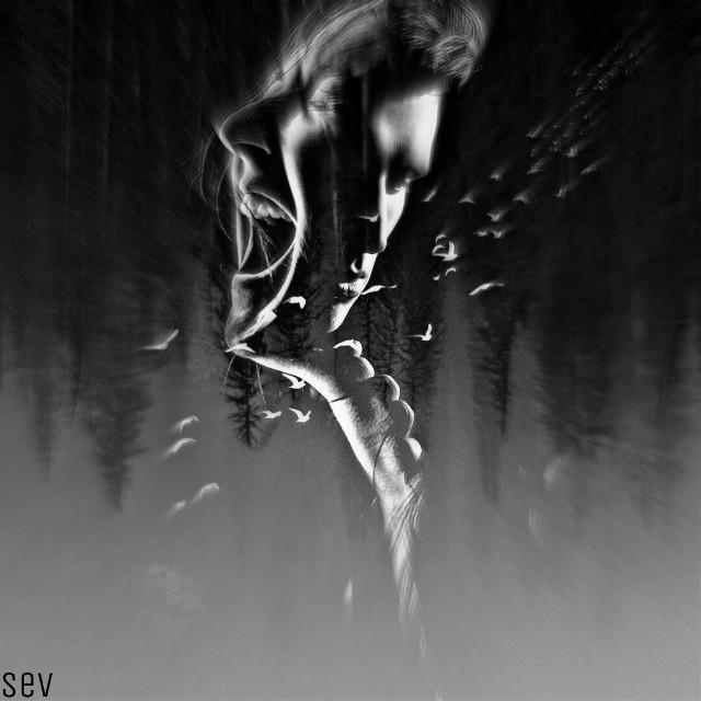 #freetoedit #blackandwhite #monochrome #portrait #emotional #womanandman #darkness #darkside #darkfeel #artistic #focusblur #blureffect #madewithpicsart #myedit