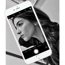 charlidamelio freetoedit blackandwhite photo phone camera pretty iphone