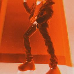 playboicarti opium slatt artistic colorful colorsplash satan black red rapper offwhite carti vampire style model sitting rap hiphop wlr wholelottared blackandwhite demon freetoedit