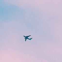 freetoedit sky plane purple clouds blue fly airplane