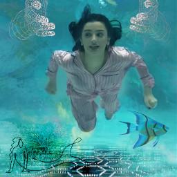 dream dreamer editedbyme effects underwater
