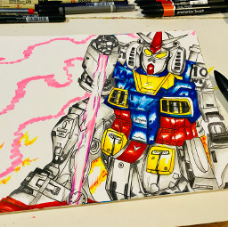 art artist comic anime gundamwing gundam bandainamco