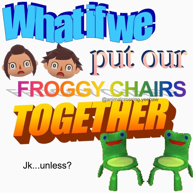 What if 😳🙌 #froggychair