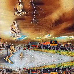 pukalani maui2021 blending sureal fantasy feasteffect floating dolphin stormy freetoedit