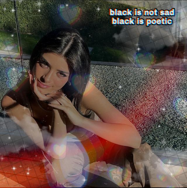 #dixiedamelio #edit #black #filters #dusteffect #picsart #frase #hearts #stickers #clouds
