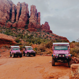 rock jeep nature red canyon hike truck pink plants mountain mountains car wilderness drive dirt road orange photography landscape remixit freetoedit green plant
