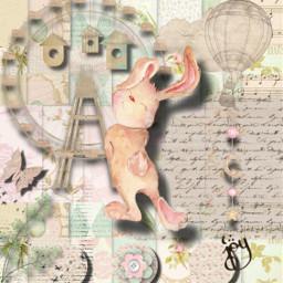 bunny freetoedit srchandwrittenbackground handwrittenbackground