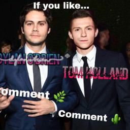 lol ifyoulike comment commentdownbelow dylanobrien tomholland freetoedit