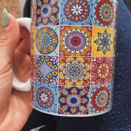 freetoedit mug coffee morning mosaic