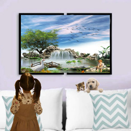 theroom childe pets painting frame freetoedit