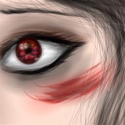 sad marvel comics art digitalart digital hydra buckybarnes red bucky wintersoldier blood scar sad fanart eye