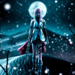followmeplease surrealistic warrior women human tree night moon desert blue moonlight winter snow snowfall bush glow blur madewithpicsart picoftheday followme freetoedit