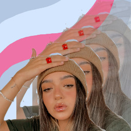 replay girl aesthetic aestheticgirl pink glitter glow outfit calleypoche calle poche calleypocheoficial remixit filter colors mover instagramfilter freetoedit