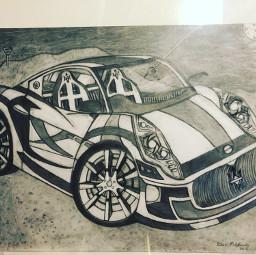 car mazarati drawing pencil