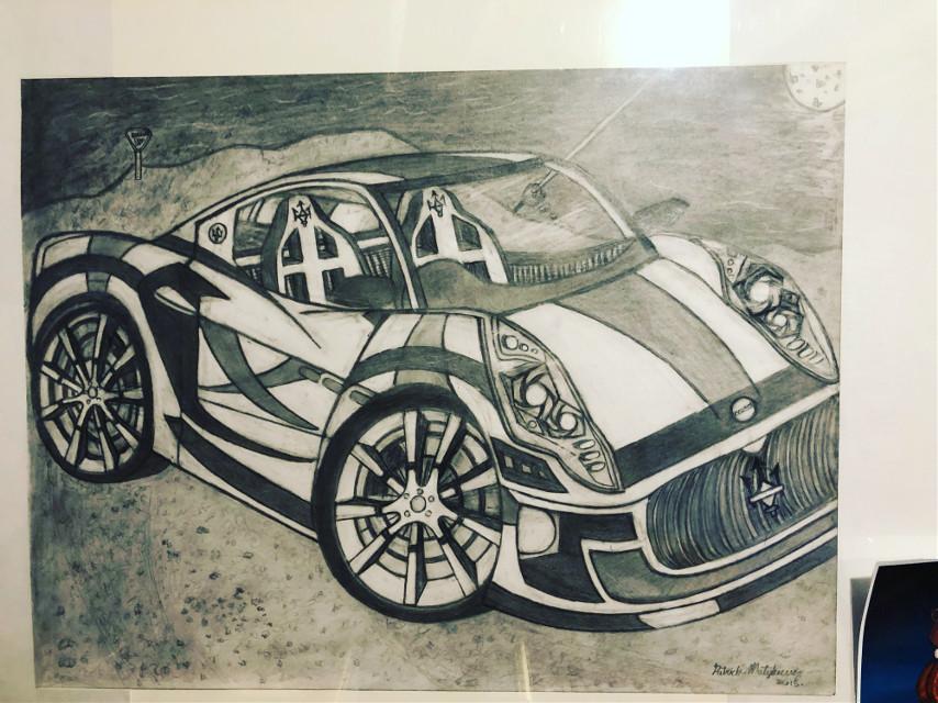 #car #mazarati #drawing #pencil