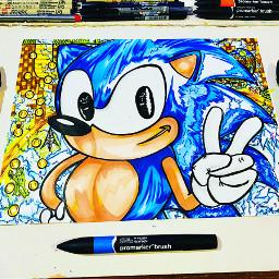 art draw sonic fanart sega