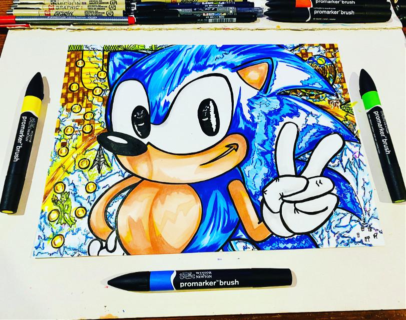 Sonic 2.0 #art #draw #sonic #fanart #sega