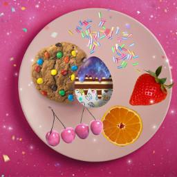 freetoedit happyeaster eastereggs easter2021 food galaxy galaxyegg brushtool sparkle fruit sprinkles madewithpicsart picsart
