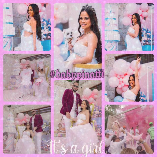 #babypinatti #nattinatashababy #itsagirl #pregnantbelly #edit #pink #dusteffect #collage #beautiful