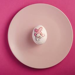mymelody sanrio egg easter pink kawaii cute plate replay eastertime ircdesigntheeasteregg designtheeasteregg freetoedit