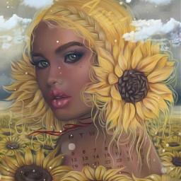 sunflower sunflowerfield girl april newlife flowers beauty calendar hairbraid yellow clouds madebyme madewithpicsart loveit srcaprilcalendar2021 aprilcalendar2021
