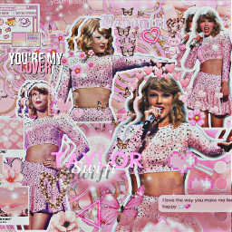 taylorswift taylor swiftie swifties celebrity taytay pink butterfly butterflies heart lover singer flower rosé rosa rose babygirl makeup complex backround complexedit edit collage remixit freetoedit