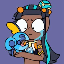 sobble nessa pokemonswordandshield sad sobblepokemon nessapokemon crying sob freetoedit
