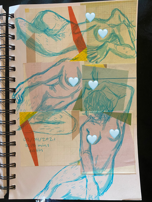 figure studies i did yesterday #figuredrawing #sketchbook