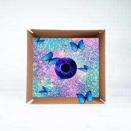 eye butterflies galaxy ircwhatsinthebox whatsinthebox freetoedit