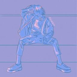 langa langahasegawa langask8 langask8theinfinity langafanart sk8theinfinity sk8theinfinitylanga sk8theinfinityanime sk8 sk8fanart sk8theinfinityfanart blue purple gray white pink bling anime animefanart